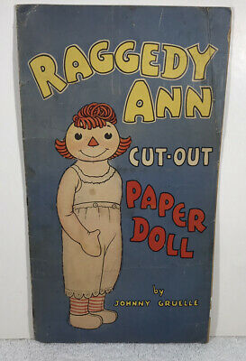 RARE. Raggedy Ann And Andy Cut-Out Book Whitman, 1935