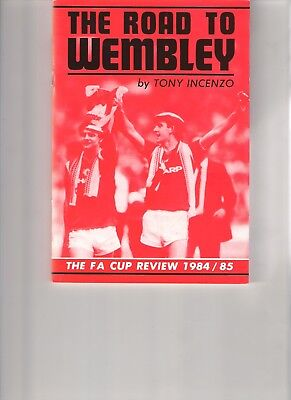 FA Cup 1984 Final Manchester United Everton programme ticket teamsheet