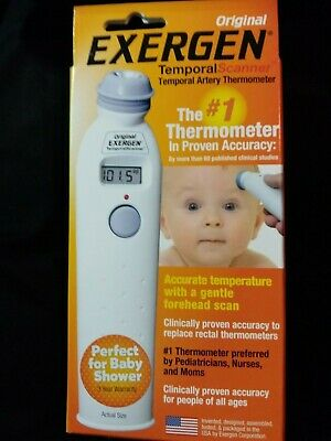 Exergen Temporal Artery Forehead Thermometer Scanner  TAT 2000C Compare Braun