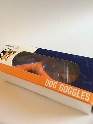 Autotrader Branded Dog Goggles, 100% UV Protection, Adjustable Straps, Cushioned