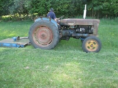 Early Fordson Major Tractor And Topper