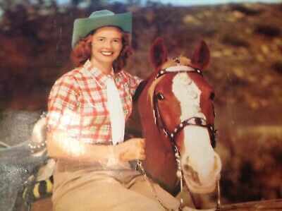 Old West Cowgirl Vintage Antique Western Horse Photo Picture 12 X 14