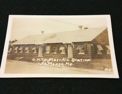 POSTCARD Ft. MEADE Maryland C.M.T.C. First Aid Station RPPC early 1900's