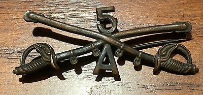 M1902 cavalry collar crossed sabers, Troop A, 5th US Cavalry
