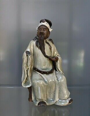 19th century shiwan figure of a ming dynasty official