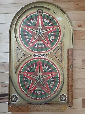 1934 Lindstrom's Gold Star Bagatelle Style Pinball Game Made in Connecticut USA