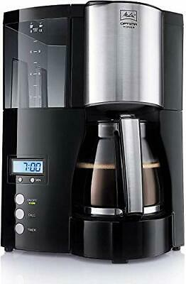 Melitta Filter Coffee Maker with Glass Pourer, Hot Hold and Timer Function,