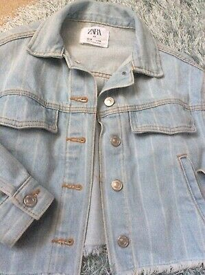 Zara Girls Denim Jacket Age 9 Years Ex Con