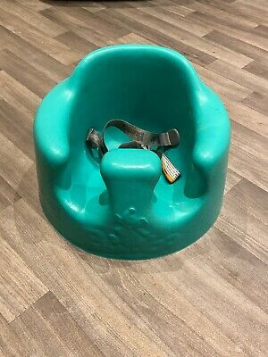 Bumbo Blue Floor Seat / Play Chair With Harness Safety Straps