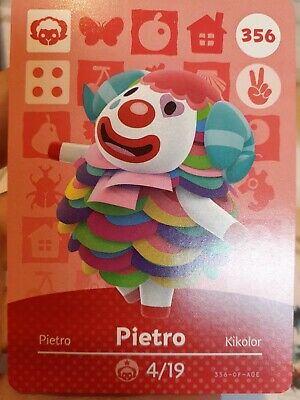 Animal crossing amiibo cards series 4 #356 Pietro NA Version never scanned