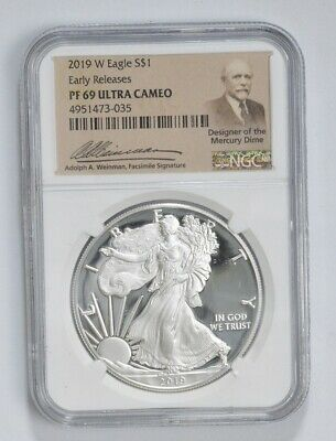 2019-W Proof American Silver Eagle - NGC PF69 ER *670