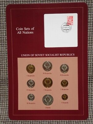 Franklin Mint Coin Sets Of All Nations 1984 Ussr