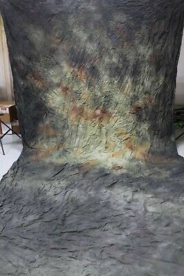 """10'x20' Muslin Hand-Painted Photo Backdrop/background """"Harmonious Colors"""""""