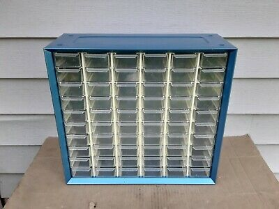 Vintage Metal 60 Drawer Nut/Bolt Small Parts Storage Cabinet Bin Organizer