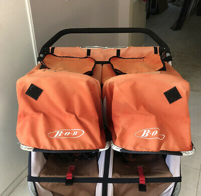 BOB Revolution Duallie Jogger Stroller ORANGE / CREAM CANOPY - Cloth Only