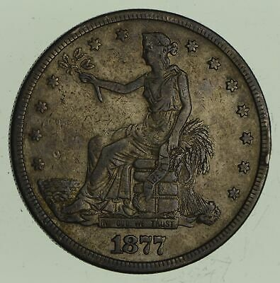 1877-S Seated Liberty Silver Trade Dollar - Circulated *4543