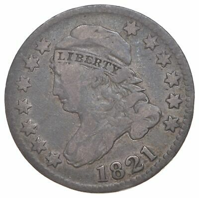 EARLY - 1821 - Capped Bust Dime - Eagle Reverse - TOUGH - US Type Coin *280