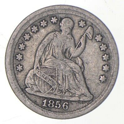 5c **1/2 Dime HALF** 1856 Seated Liberty Half Dime Early American Type Coin *214