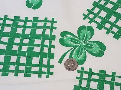 Vintage Full Feedsack: Green Clover Leaves  and Patches