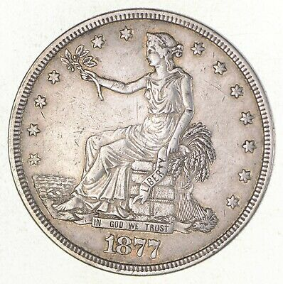 1877 Seated Liberty Silver Trade Dollar *2711