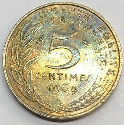 1969 France 10 Centimes Coin (G104)