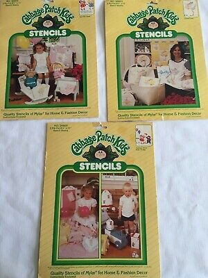 Vintage Cabbage Patch Kids Doll Stencils Colonel Casey Ain't She Sweet At Play
