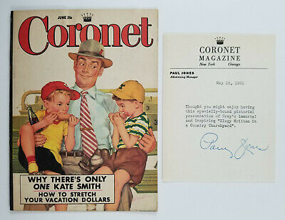 Coronet Magazine Advertising Picture Story Booklet And Letterhead 1952
