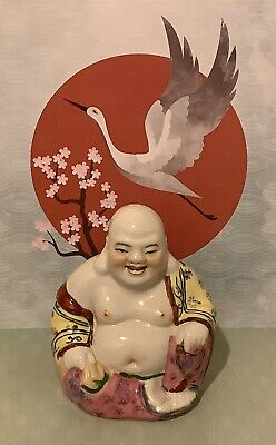 Chinese Famille Rose Style Porcelain Laughing Buddha