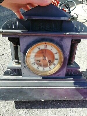 Antique Table Clock Watch Heavy