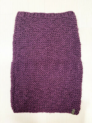 [DIESEL] Neck Warmer, Knitted Scarf Unique Purple Burgundy Color / Pre-Owned A+
