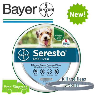 Bayer Seresto Flea&Tick Control Collar for S Dogs up to 18lbs 8 Month Protection