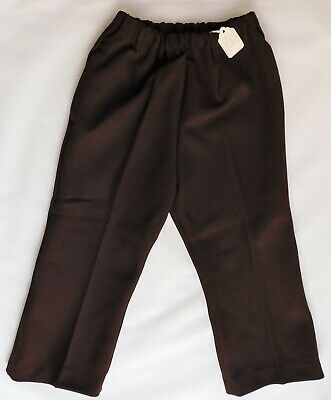Childrens vintage flared trousers Age 2 UNUSED 1960s 1970s brown nylon LADYBIRD