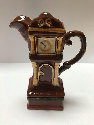 Minature Teapots Grandfather Clock Cardew Design