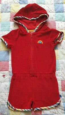 EUC Little Bird by Jools Oliver at Mothercare Towelling Playsuit Age 5-6 years
