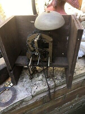Antique Clock Striking Chain Driven Movement  For Restoration Please Look