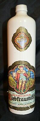 Vintage Beameister Liebfraumilch Wine Bottle, Glass, Label, Collectible