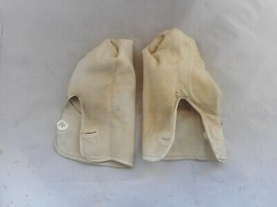 VINTAGE LADIES LEATHER GLOVES(27cms long)WITH BUTTON FASTENING
