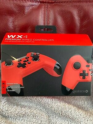 Nintendo Switch Controller Gioteck WX4 Premium Wired Console Gamepad Red - NEW