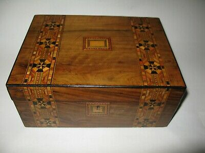 A Victorian Walnut Veneered Marquetry Table Box