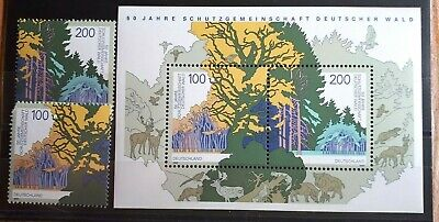 1997 Germany Full Set Of 2 Stamps & Souvenir Sheet - Forest Protection -  MNH