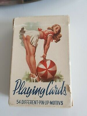 Vintage 54 different Pin up playing cards erotic