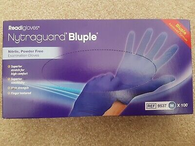Nytraguard Bluple Nitrile Gloves, Medium, Pack of 100