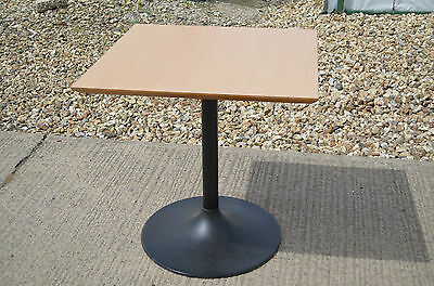 Square Kitchen or Dining Table, Cast Iron Black Round Pedestal Base, Suit A Pub,