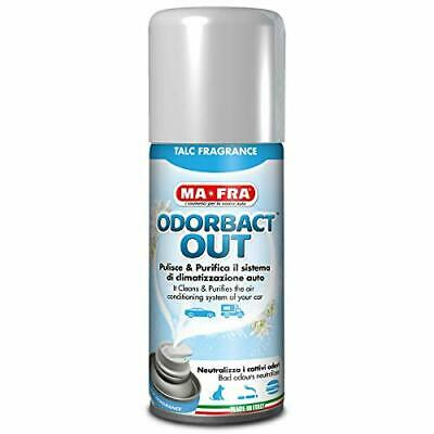 Mafra, Odorbact Out Talc Fragrance, Spray Purificante per Climatizzatori Auto,