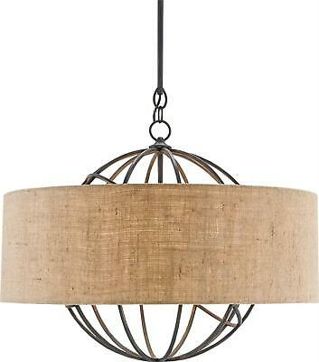 Millcroft Chandelier Currey &Amp; Company 4-Light French Black Natural Sha