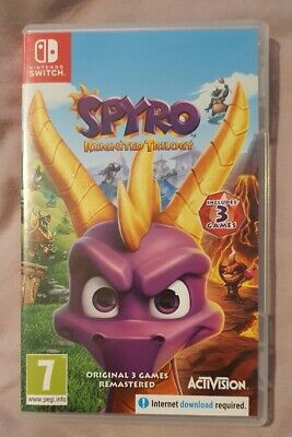 Spyro Reignited Trilogy Nintendo Switch  3 dragon adventures Perfect Condition