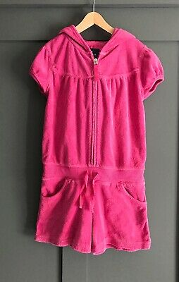 Gap Kids Girls Hooded Towelling Playsuit. Age 4-5 Years. VGC