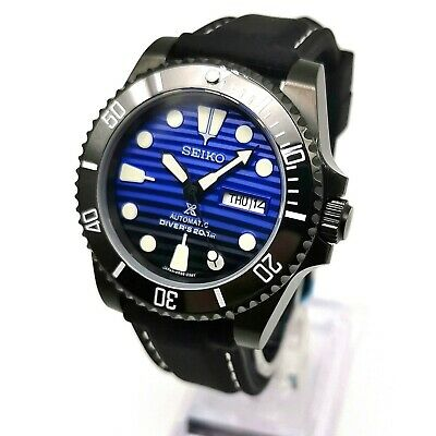SUBMARINER DIVERS WATCH SEIKO NH36 Automatic Mod Ceramic Bezel Sapphire Crystal