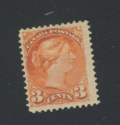 Canada Small Queen Stamp #41-3c MH F/VF Vermillion Guide Value = $60.00