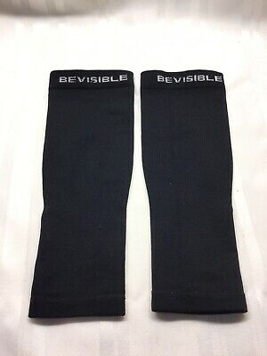 BEVISIBLE Shin Compression Sleeves - Black - XXL - 20-30mm